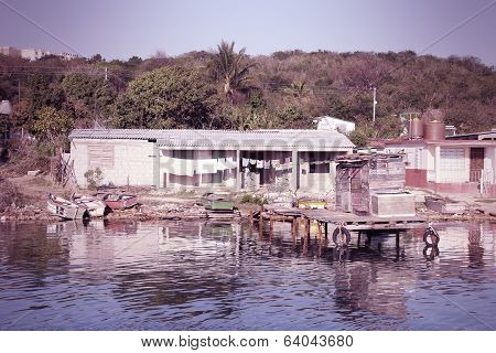 Fishing Village In Cuba