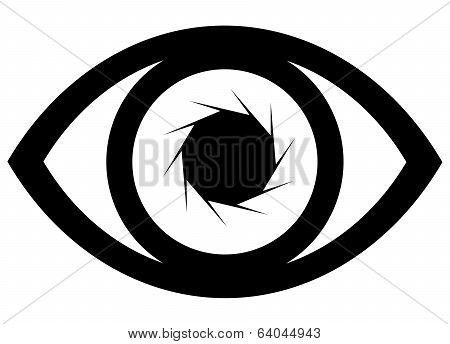 Eye Icon Illustration With Lens Effect