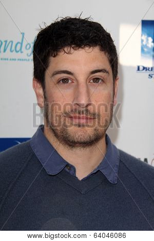LOS ANGELES - APR 27:  Jason Biggs at the Milk + Bookies Story Time Celebration at Skirball Center on April 27, 2014 in Los Angeles, CA