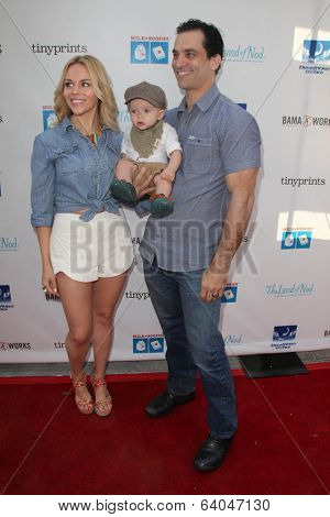 LOS ANGELES - APR 27:  Julie Solomon, Johnathon Schaech, Camden Schaech at the Milk + Bookies Story Time Celebration at Skirball Center on April 27, 2014 in Los Angeles, CA