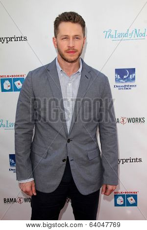 LOS ANGELES - APR 27:  Josh Dallas at the Milk + Bookies Story Time Celebration at Skirball Center on April 27, 2014 in Los Angeles, CA