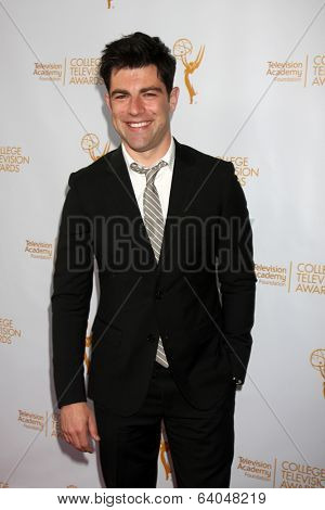 LOS ANGELES - APR 23:  Max Greenfield at the 35th College Television Awards at Television Academy on April 23, 2014 in North Hollywood, CA