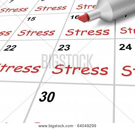 Stress Calendar Means Pressure Strain And Burden
