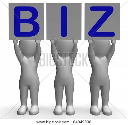 Biz Banner Means Corporate Business And Partnership