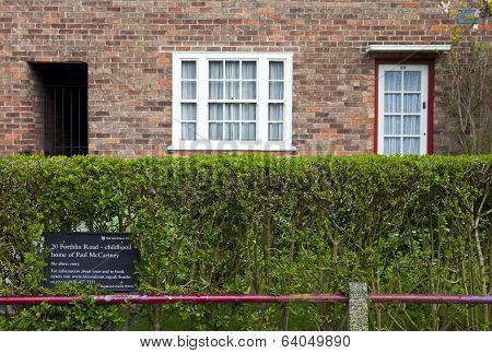 Childhood Home Of Sir Paul Mccartney In Liverpool