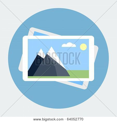 Photo gallery flat icon