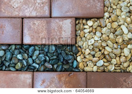 Brick And Pebble Background