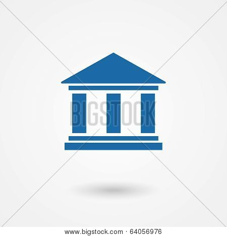 Blue bank icon