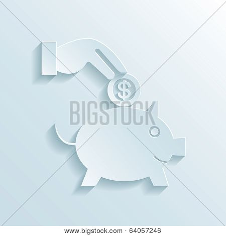 Savings and economy paper icon