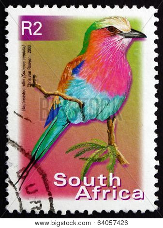 Postage Stamp South Africa 2000 Lilac-breasted Roller, Bird
