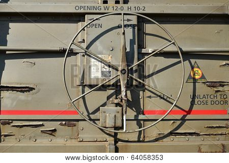 Freight Car Door Mechanism