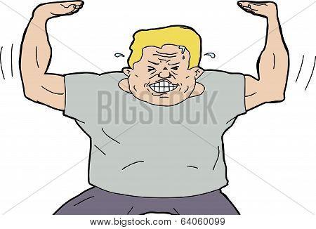 Strong Man Pushing