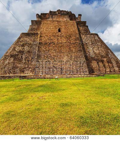 Mayan pyramid in Uxmal, Yucatan, Mexico