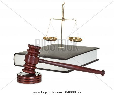 Judge Gavel And Law Book