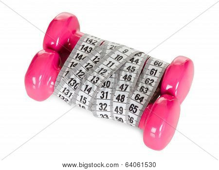 Dumbbells Wrapped In Measuring Tape