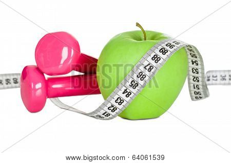 Apple Wrapped In Measuring Tape