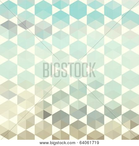 Retro Pattern Of Geometric Hexagon Shapes