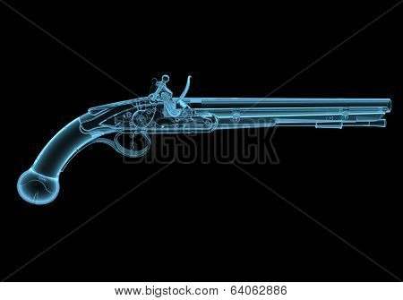 Antique fire-arm pistol