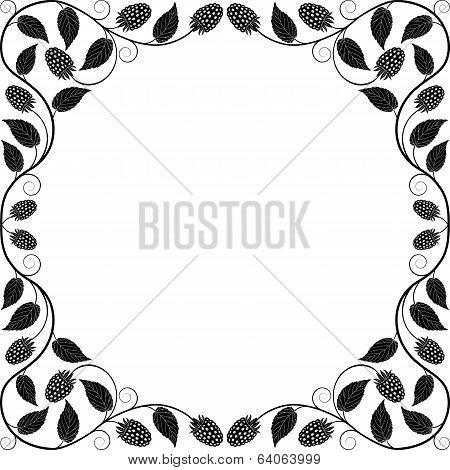 Vintage floral frame