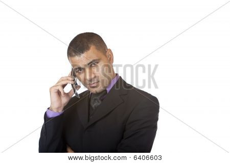 Young Confident Business Man Makes Telephone Call