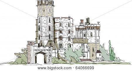 Windsor castle, England, Queen s favourite castle  Sketch collection