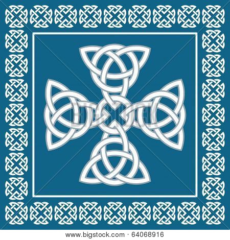 Celtic Cross Ornament,symbolizes Eternity,vector Illustration