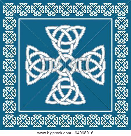 Celtic Cross Ornament,symbolizes Eternity,vector Illustration