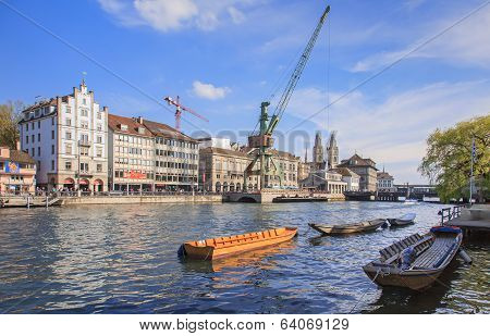 Dockside Crane In Zurich