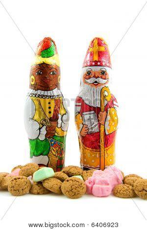 Chocolate Sinterklaas And Black Pete