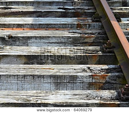 Section Of Old Railway Sleepers