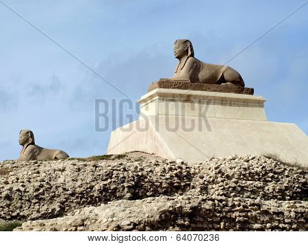 Two sphinxes at Alexandria