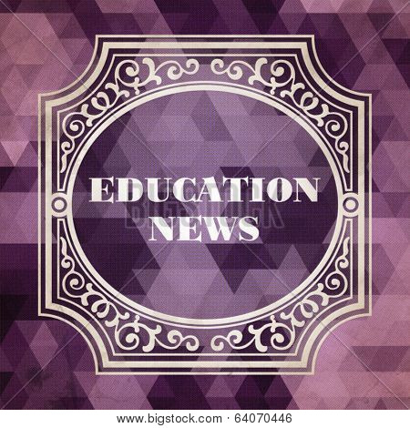 Education News Concept. Vintage design.