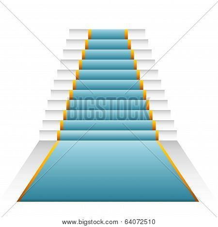 Blue-green elegant stairs