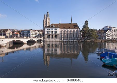 Zurich, Great Minster And The Water Church