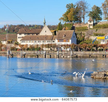 Lake Zurich In Rapperswil