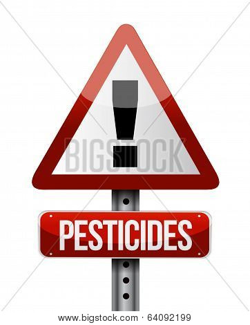 Pesticides Warning Sign Illustration Design