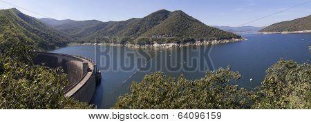 The panorama view of Bhumibol Dam