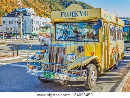 Loop Bus in Kawaguchiko Japan