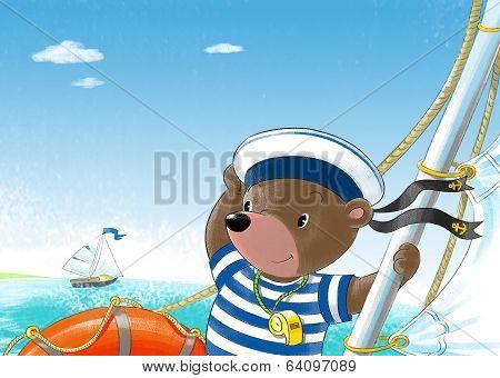 Bear On The Yacht
