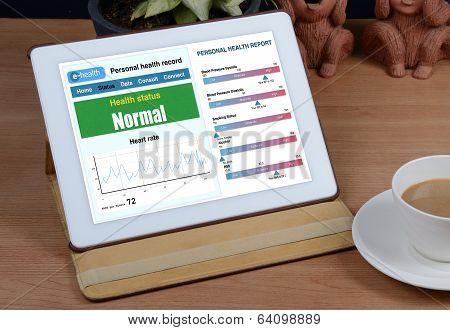 E-health Information Show On Tablet