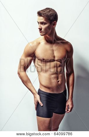 Portrait Of A Young Sexy Muscular Man