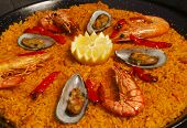 image of seer  - Paella decorated  - JPG