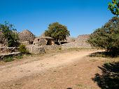 picture of outhouses  - Ancient agricultural outhouses made of dry stones in The Bories Village  - JPG