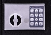 image of combination lock  - combination lock for bank safe close up - JPG