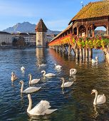 picture of chapels  - Lucerne Switzerland  - JPG