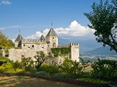 Medieval Fortress In Alps. France. poster