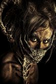 Постер, плакат: Frightening mythical creature male Alien creature Horror Halloween