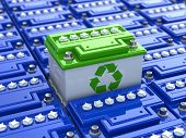 picture of accumulative  - Car battery recycling - JPG