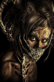stock photo of creatures  - Frightening mythical creature male - JPG