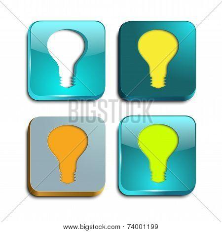 Square Button Light Bulb